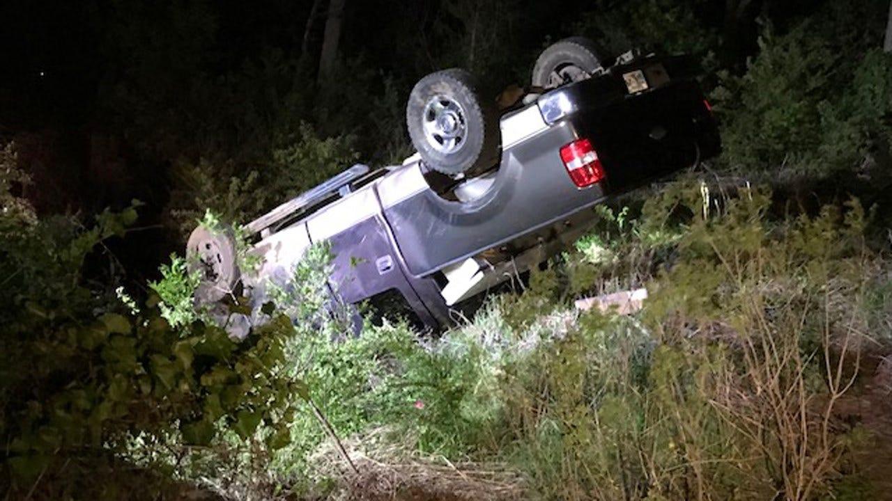 Tulsa Man In Hospital After Rollover Crash