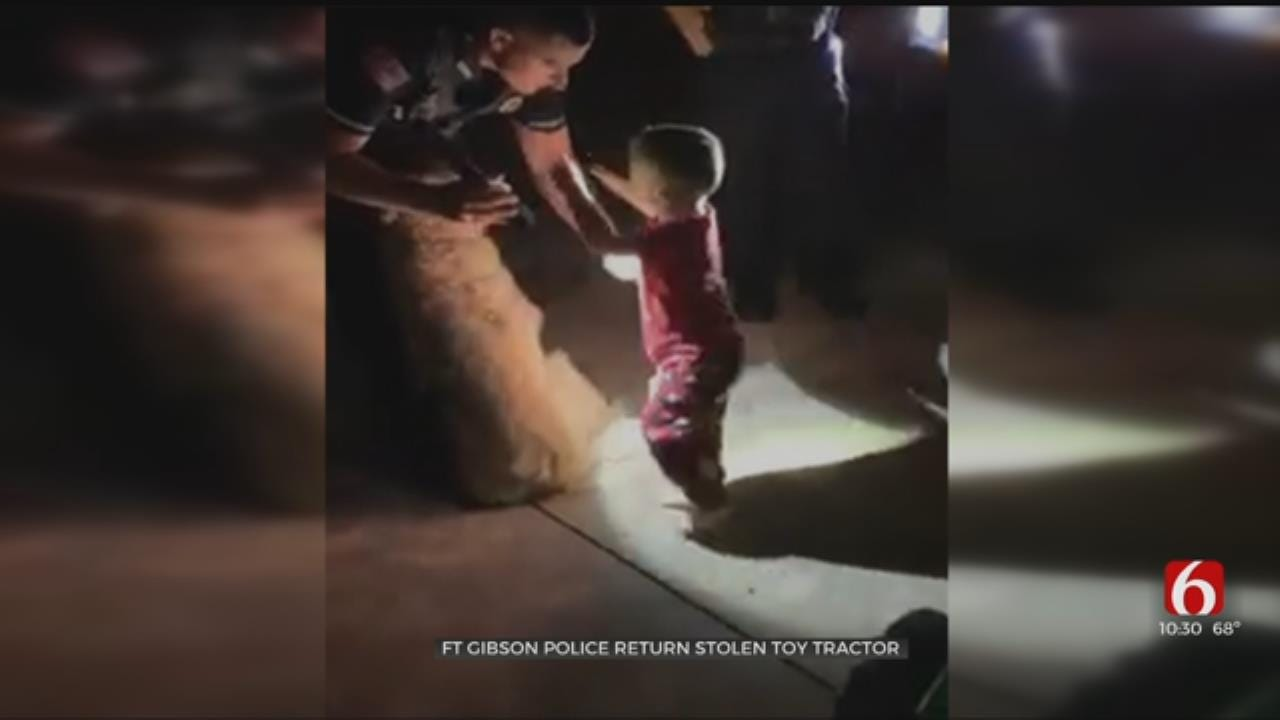 Fort Gibson Police Return Young Boy's Stolen Toy Tractor