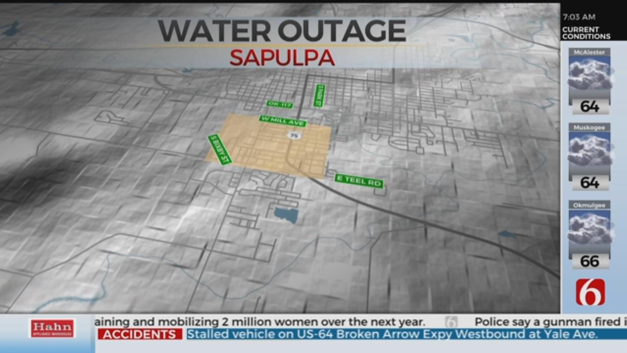 Water Outage Planned In Sapulpa For Water Main Work