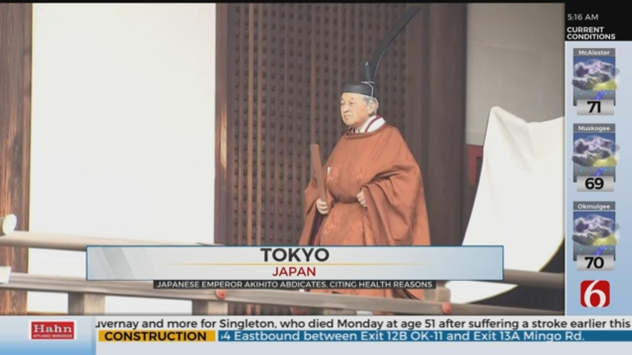 Japanese Emperor Akihito, 85, Starts Abdication Rituals