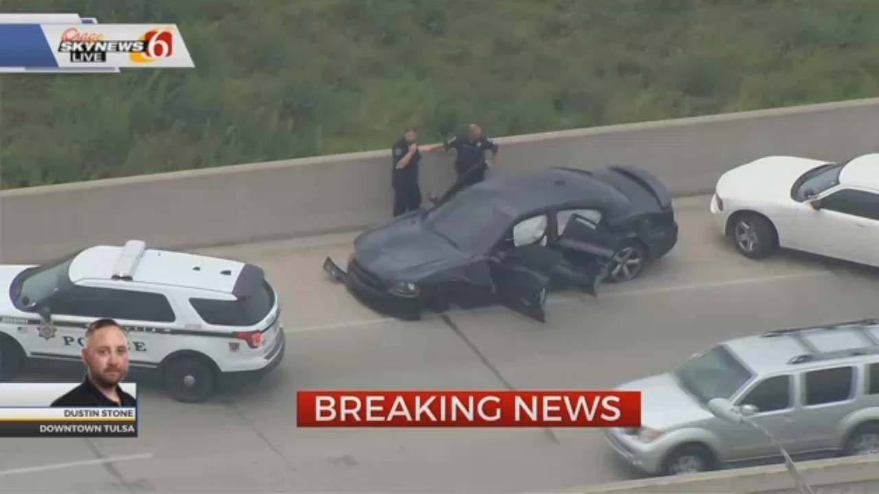Suspect Jumps Off Tulsa Highway Bridge During Police Pursuit
