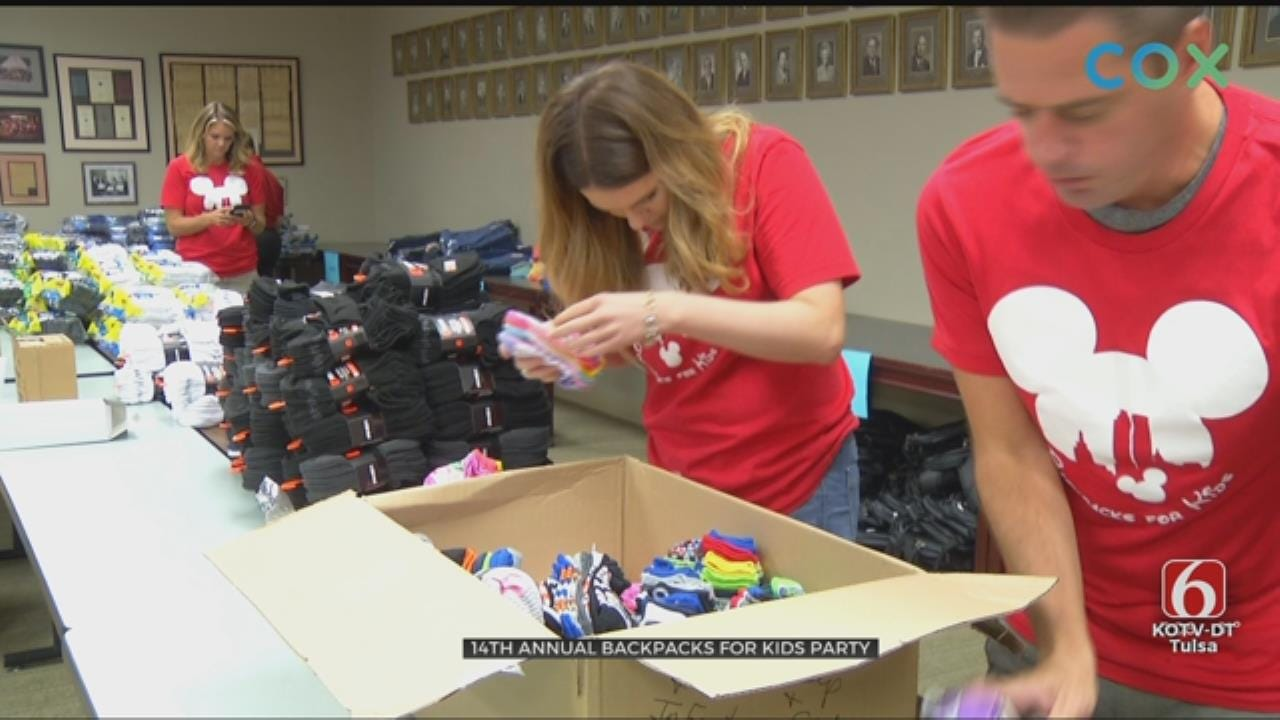 Tulsa Association of Realtors Hand Out Back-To-School Supplies For Students In Need