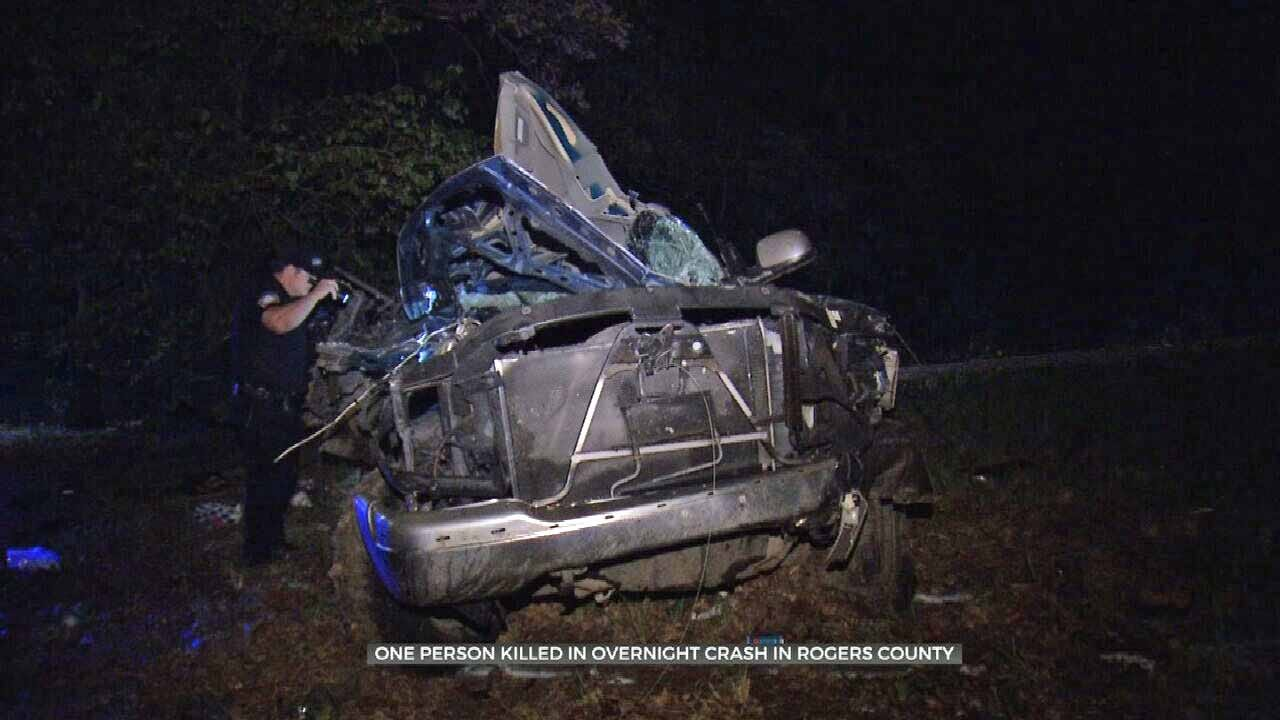 Crash In Rogers County Leaves 1 Dead, 3 Others Injured
