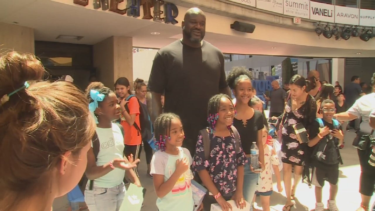 Shaq-To-School: Shaquille O'Neal Provides Over 2,000 Shoes To Students In Need
