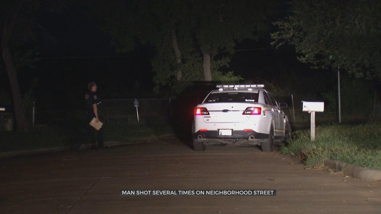 Tulsa Police Search For Suspect Accused Of Shooting Neighbor