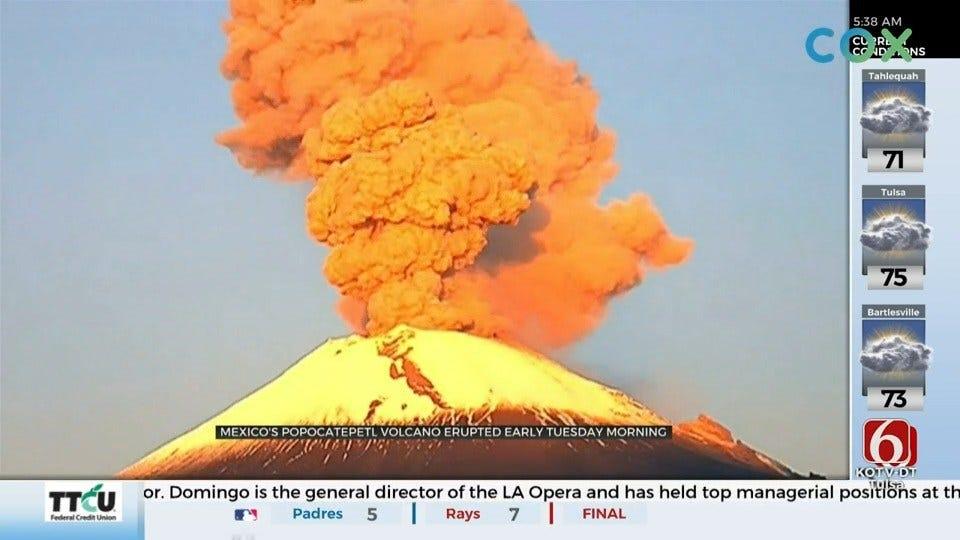 Volcano In Mexico Erupts