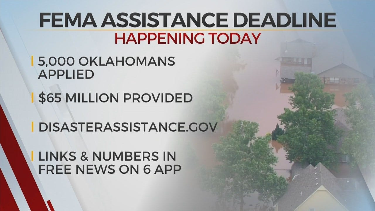 Wednesday Is The Deadline For FEMA Assistance Following Historic Flooding