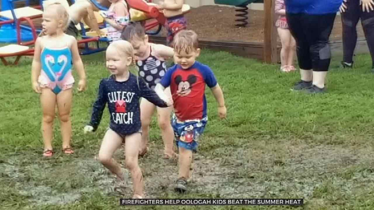 Oologah Kids Have Fun In The Sun Thanks To Fire Department