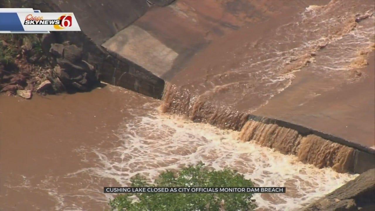 Dam Breach Closes Cushing Lake Indefinitely