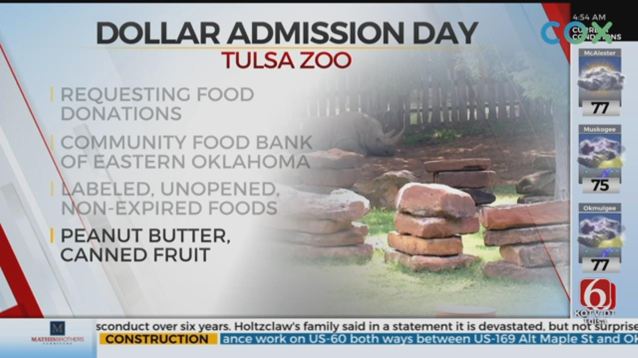 Tulsa Zoo Holds Dollar Day, Collecting Donations For School Pantry Program