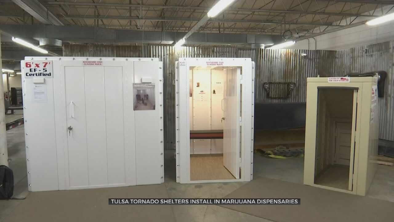Tulsa Company Revamps Storm Shelters To Protect Marijuana Dispensary Workers
