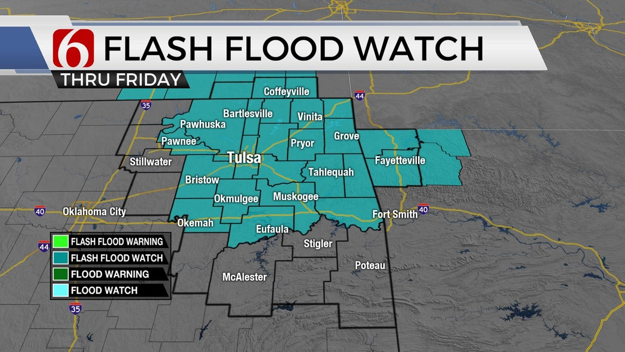 Flood Watch As Storms Enter Green Country