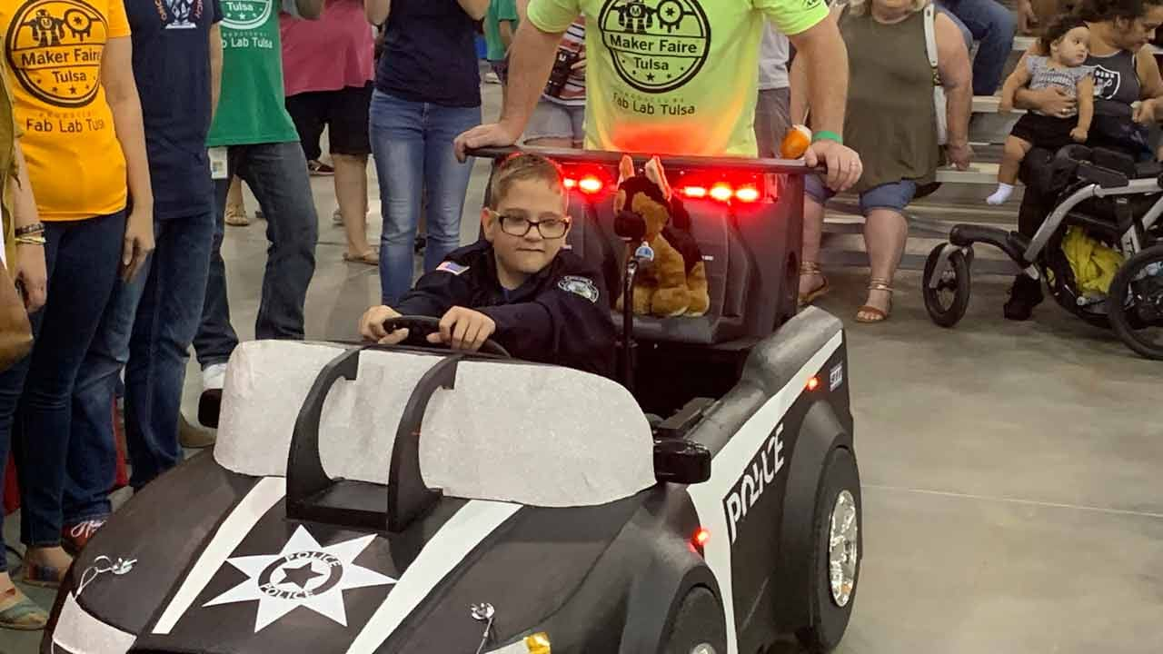 12-Year-Old Gets Police Car Inspired Wheel Chair From Haskell Police