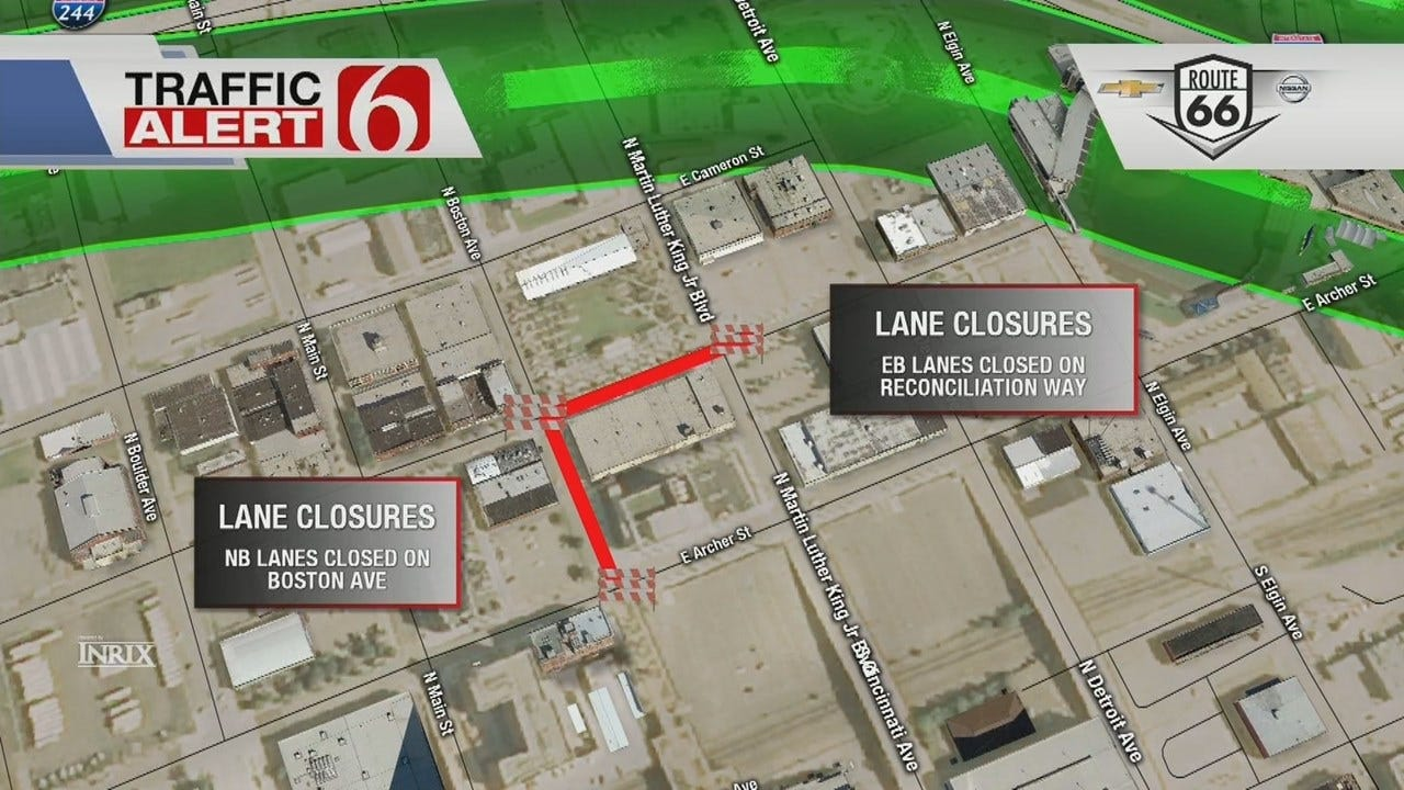 Drainage Project Closes Lanes In Downtown Tulsa