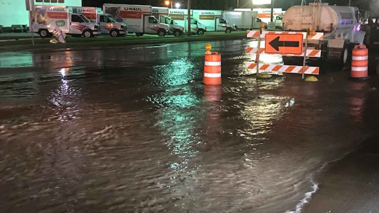 Water Break Leaves Several Tulsa Businesses Without Water
