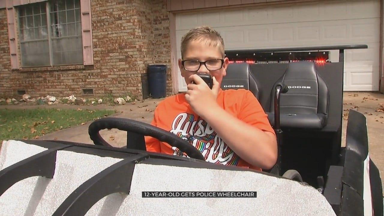 12-Year-Old Oklahoma Boy Gets Police Car Wheelchair