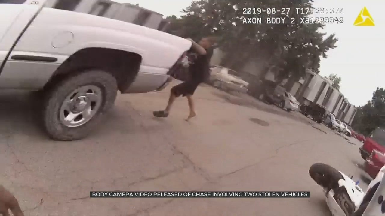 WATCH: Tulsa County Chase Takes Bizarre Turn