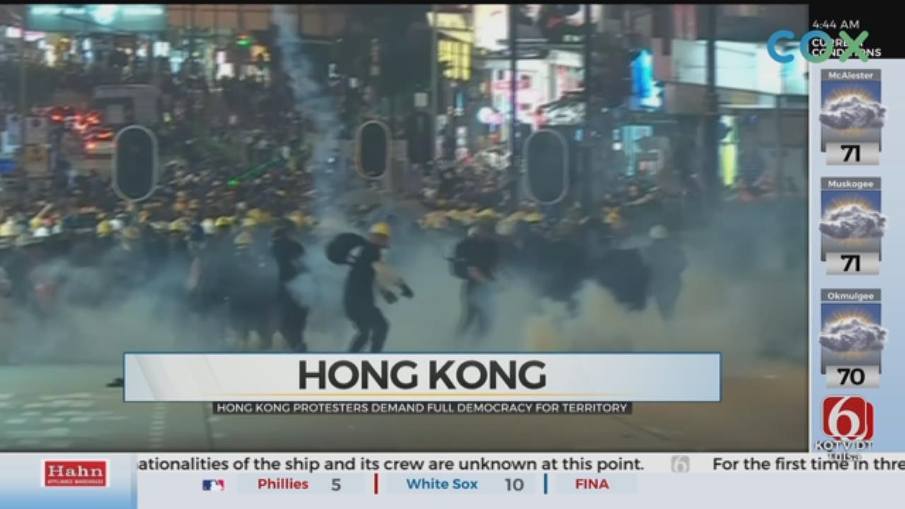 Hong Kong Protests Continue, Disrupt Transportation Citywide
