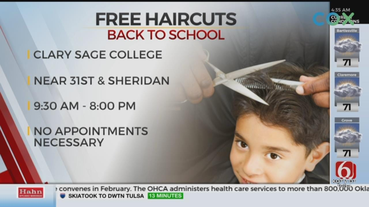 Clary Sage College Offers Free Haircuts For Students