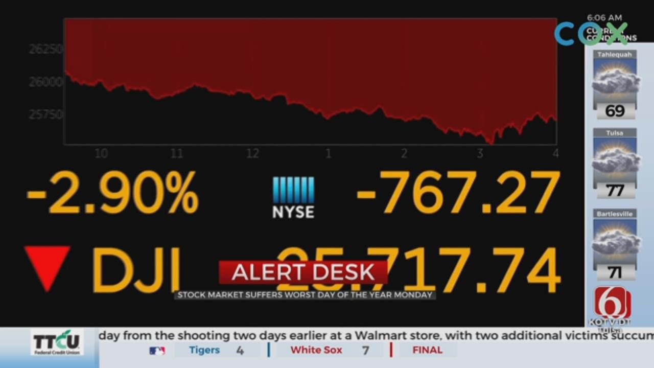 Stock Market Opening Down After Worst Day Of The Year