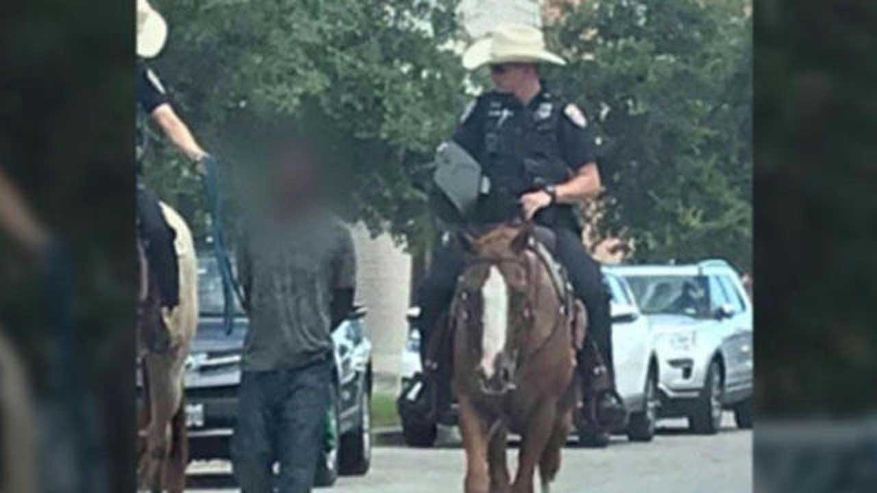 Chief Apologizes After Horseback Officers Lead Man By Rope