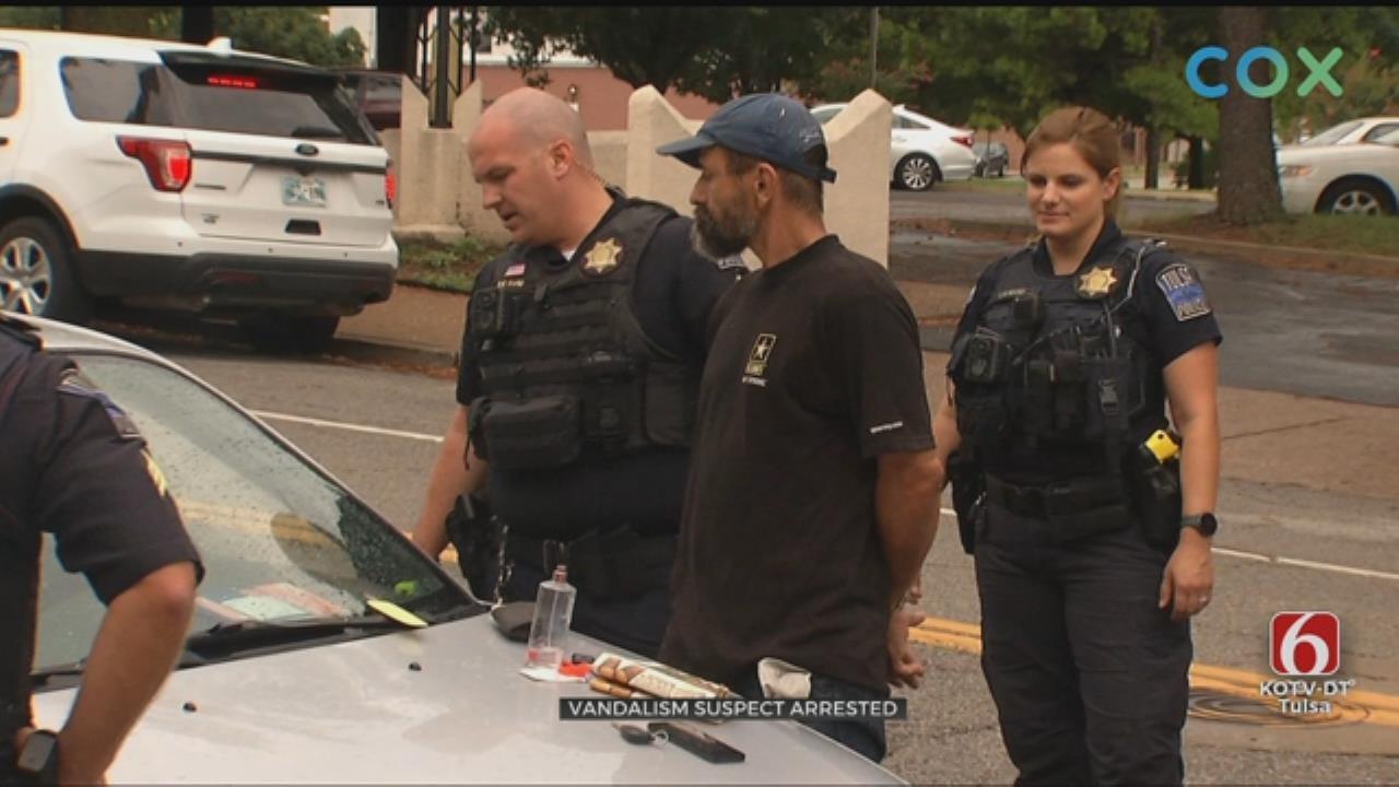 Tulsa Police: Man In Custody After Vandalizing Cars At A Church