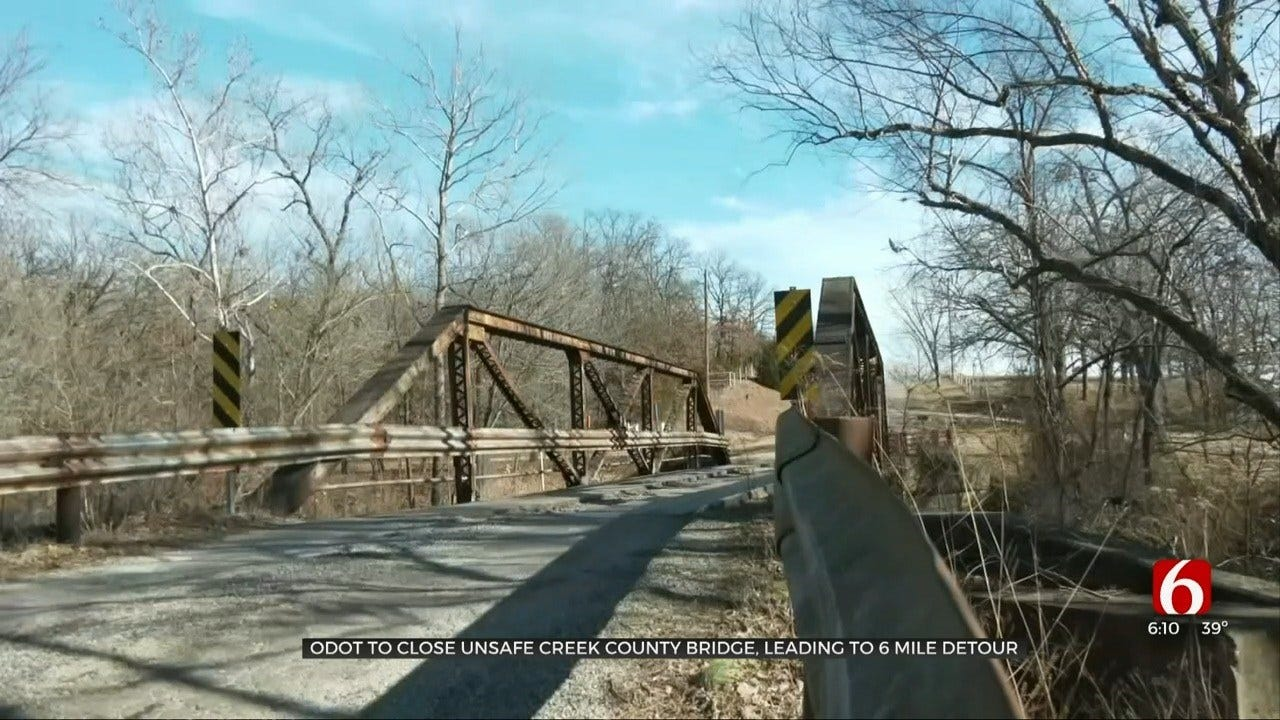Creek County Bridge Set To Close After Safety Inspection