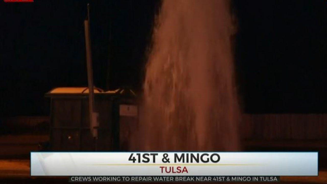 Crews Repair Tulsa Water Break