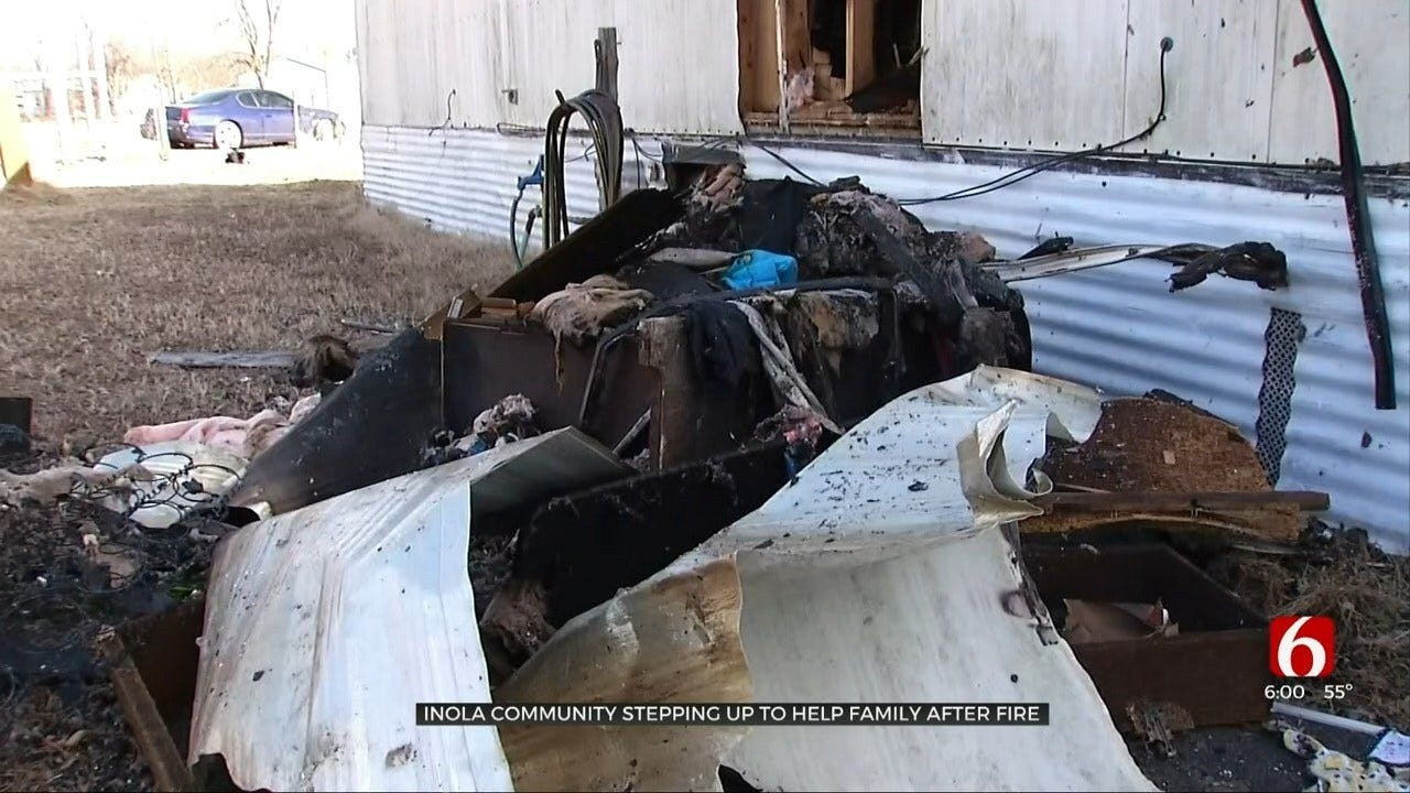 Inola Elementary Collecting Donations For Family of Six After House Fire