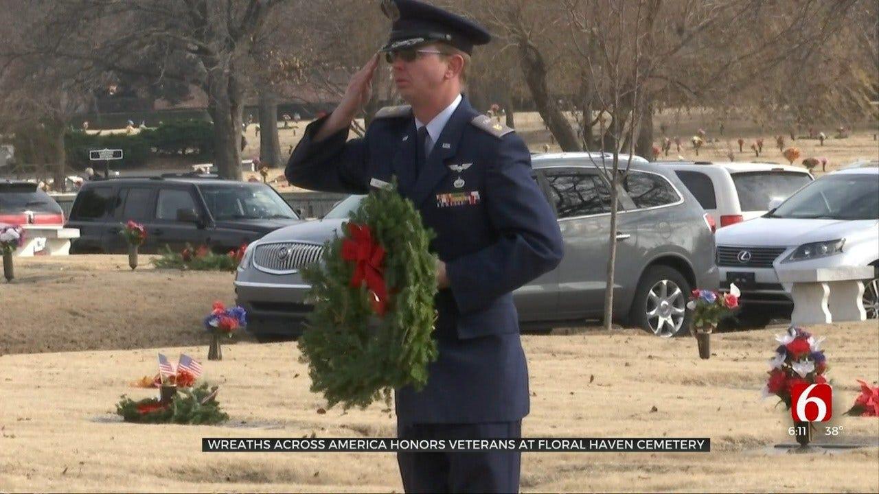 Volunteers Lay More Than 1,000 Wreaths For Veterans In Broken Arrow