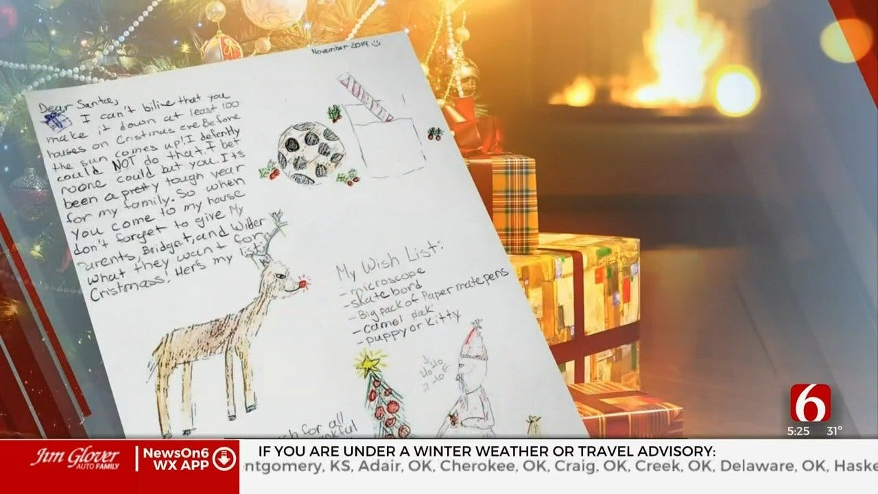 Letters To Santa Reveal Wonder Of Oklahoma Children