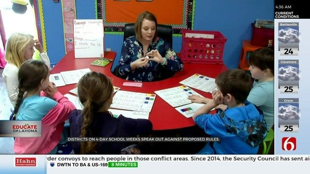 Oklahoma School Districts Fighting To Keep 4-Day School Week