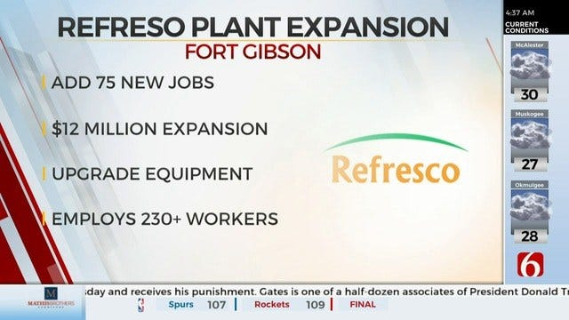Refresco Announces $12 Million Expansion At Muskogee Co. Location