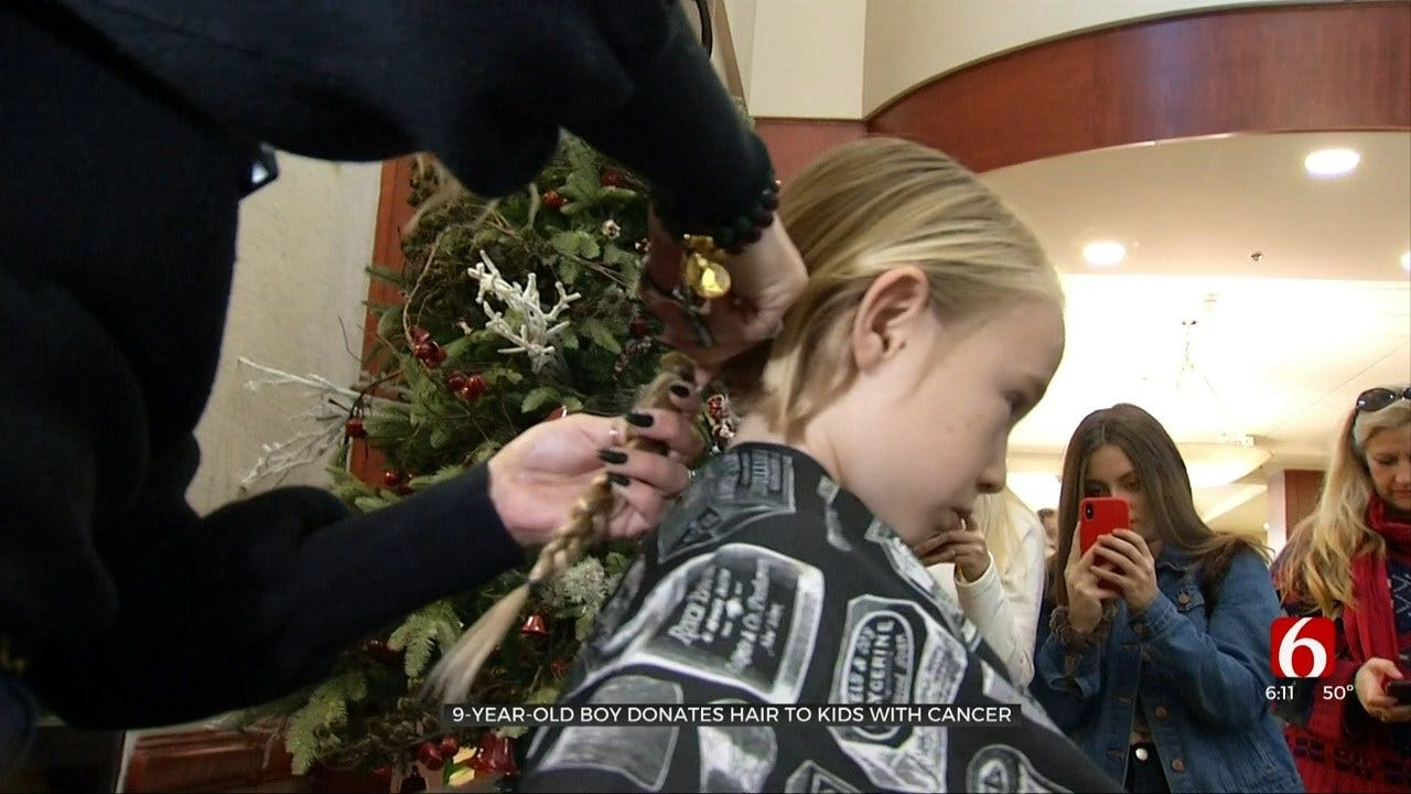 9-Year-Old Jenks Boy Cuts Hair To Donate To Cancer Patients