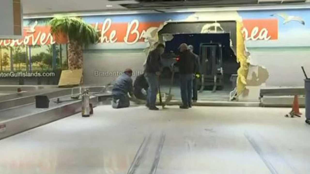 Driver Crashes Into Florida Airport After Police Chase