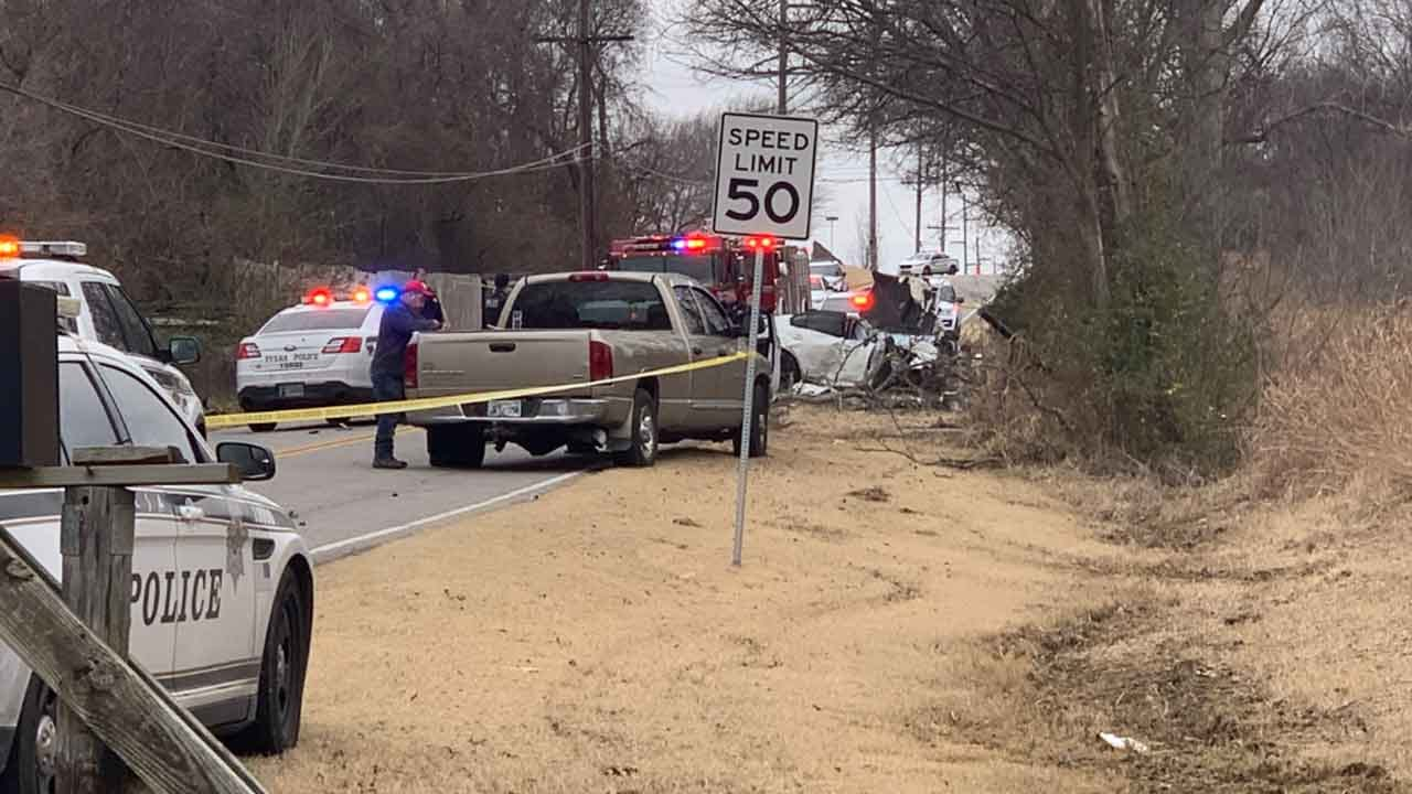 Tulsa PD: 2 Suspects Dead, 1 Critically Injured After Chase, Crash