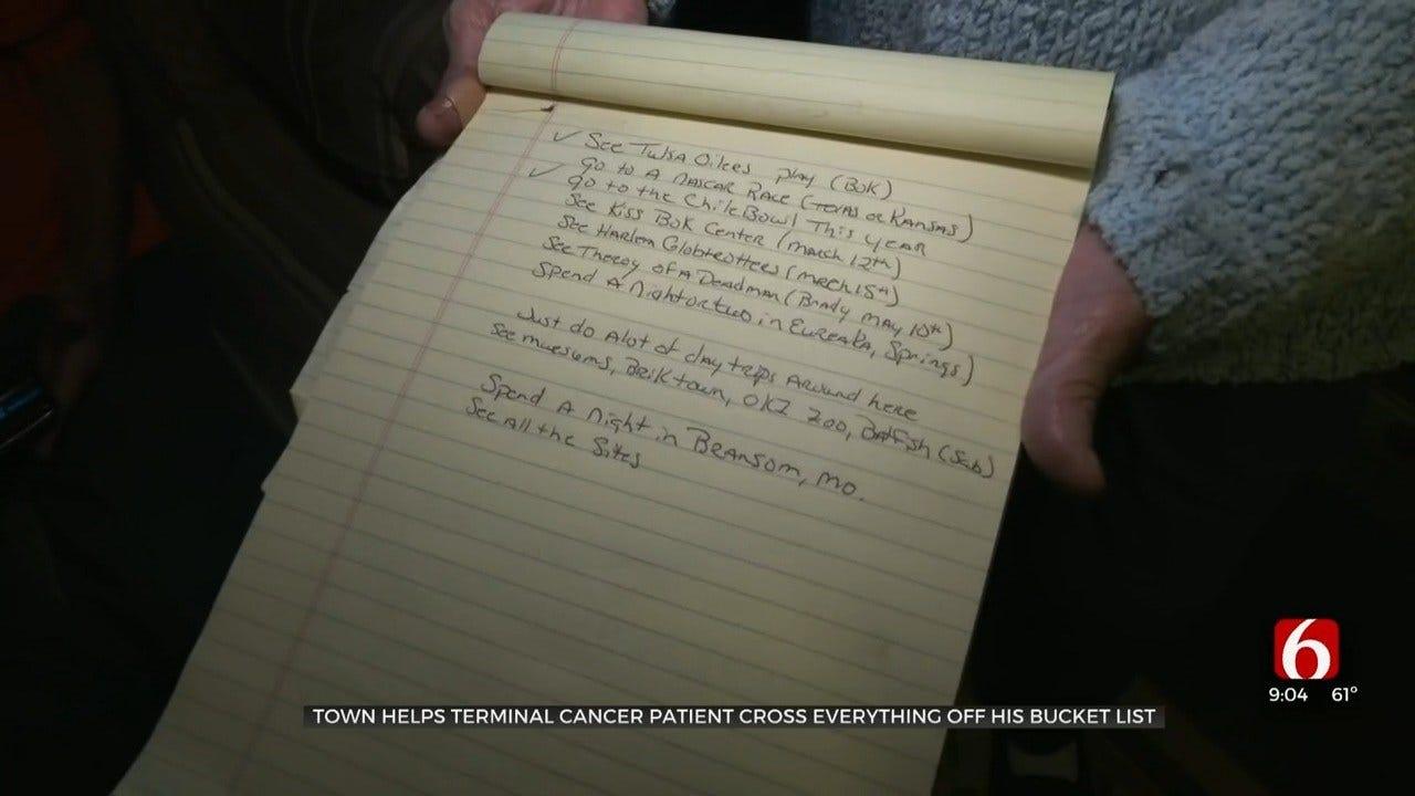 Terminally Ill Oklahoma Man Creates Bucket List, Lives Life To Fullest