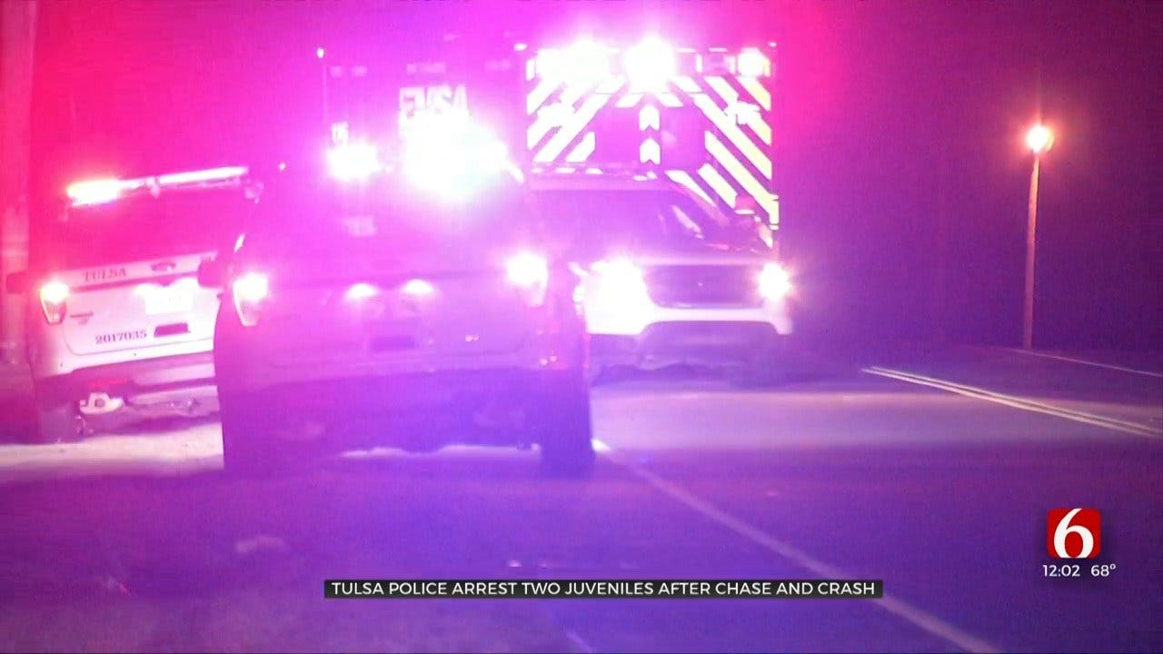 Tulsa Police: Two Juveniles Arrested After Car Chase