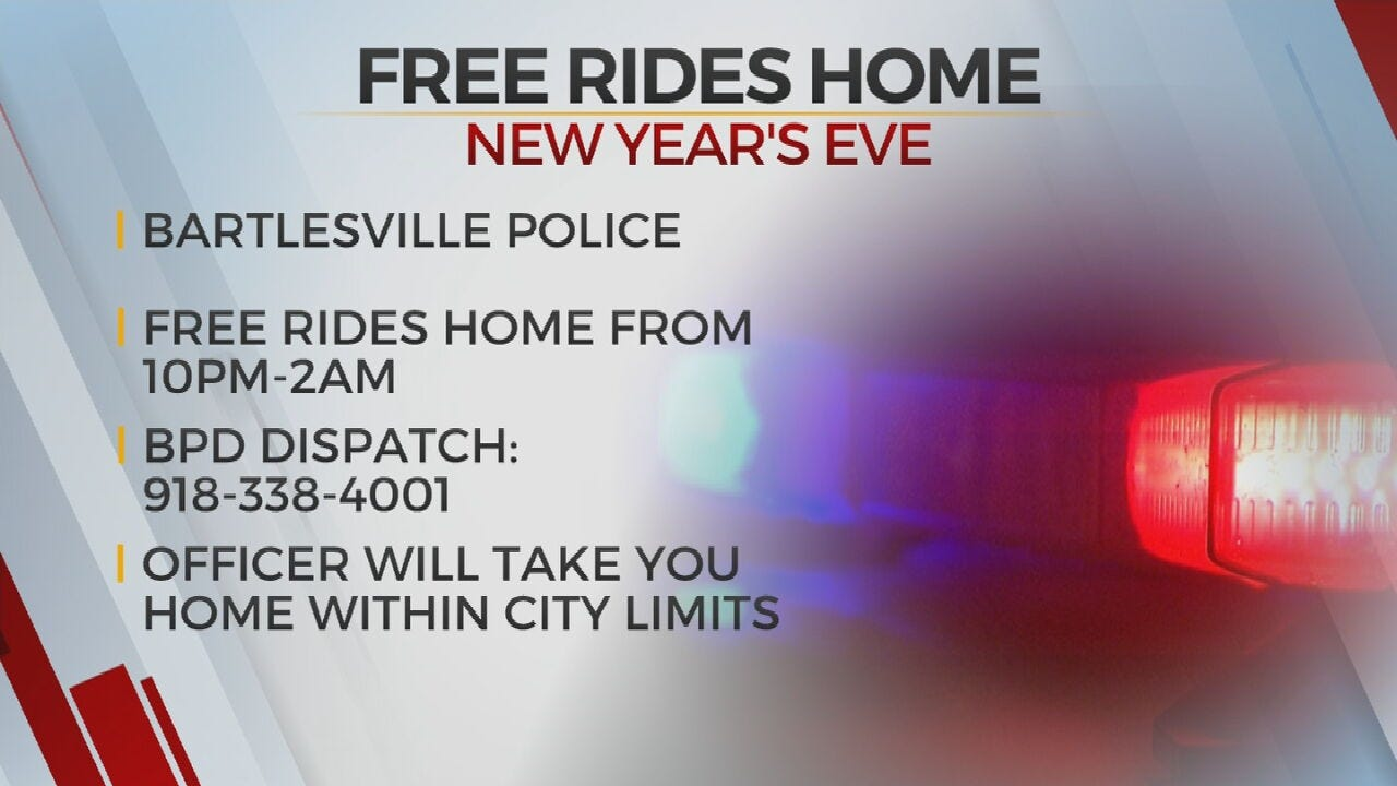 Bartlesville Police Offer Free Rides Home On New Year's Eve