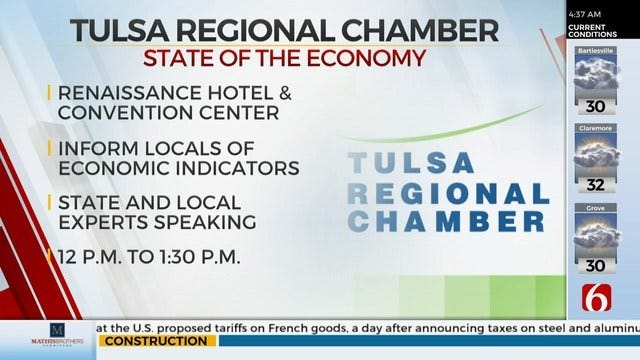 Tulsa Regional Chamber To Hold Annual State Of The Economy Forum