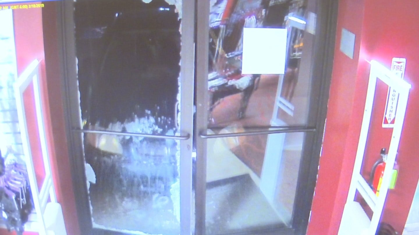Tulsa Man Plows Into Door Of Adult Novelty Store, Police Say