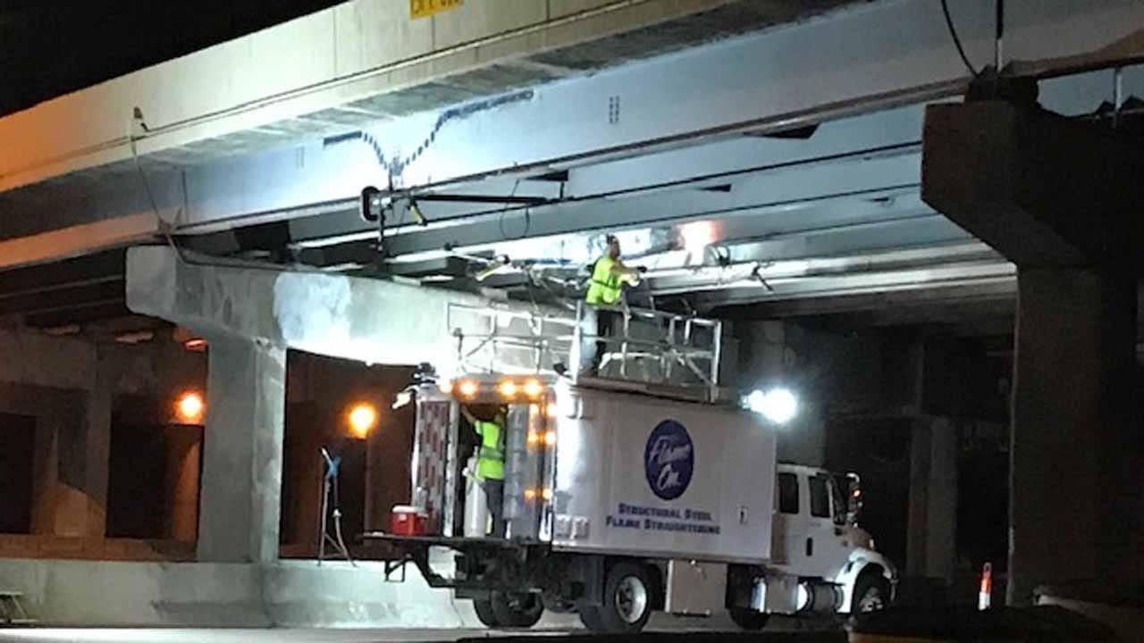 Bridge Repair Closes Lanes On I-44 In Tulsa