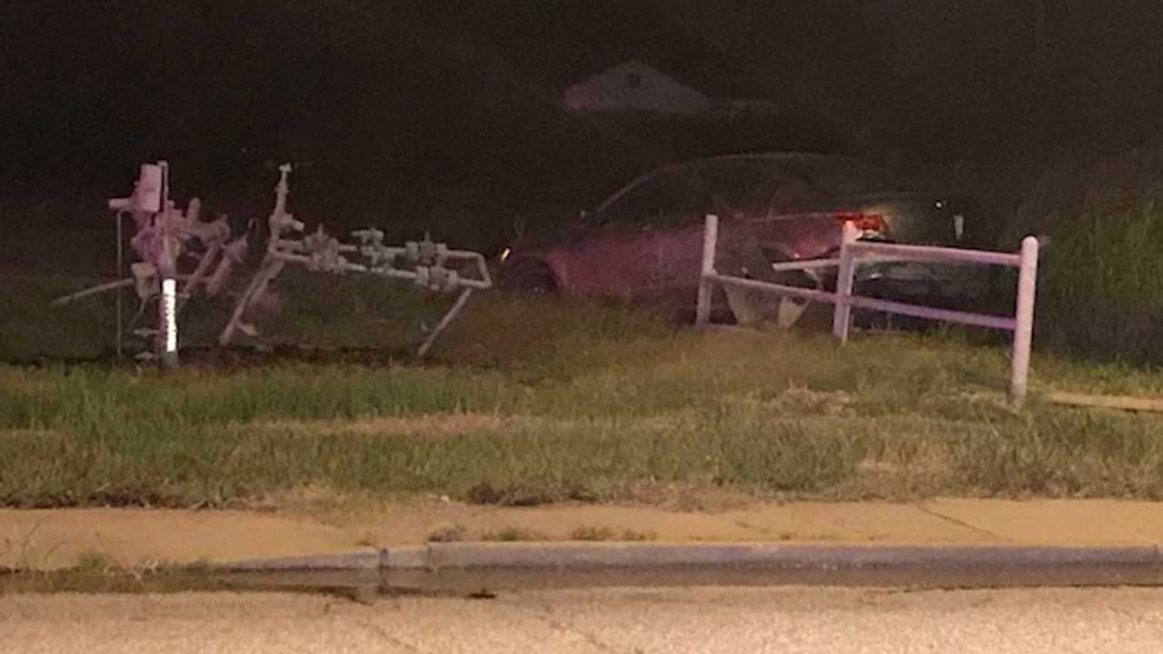 Car Hits Tulsa Gas Meter, Causes Gas Leak