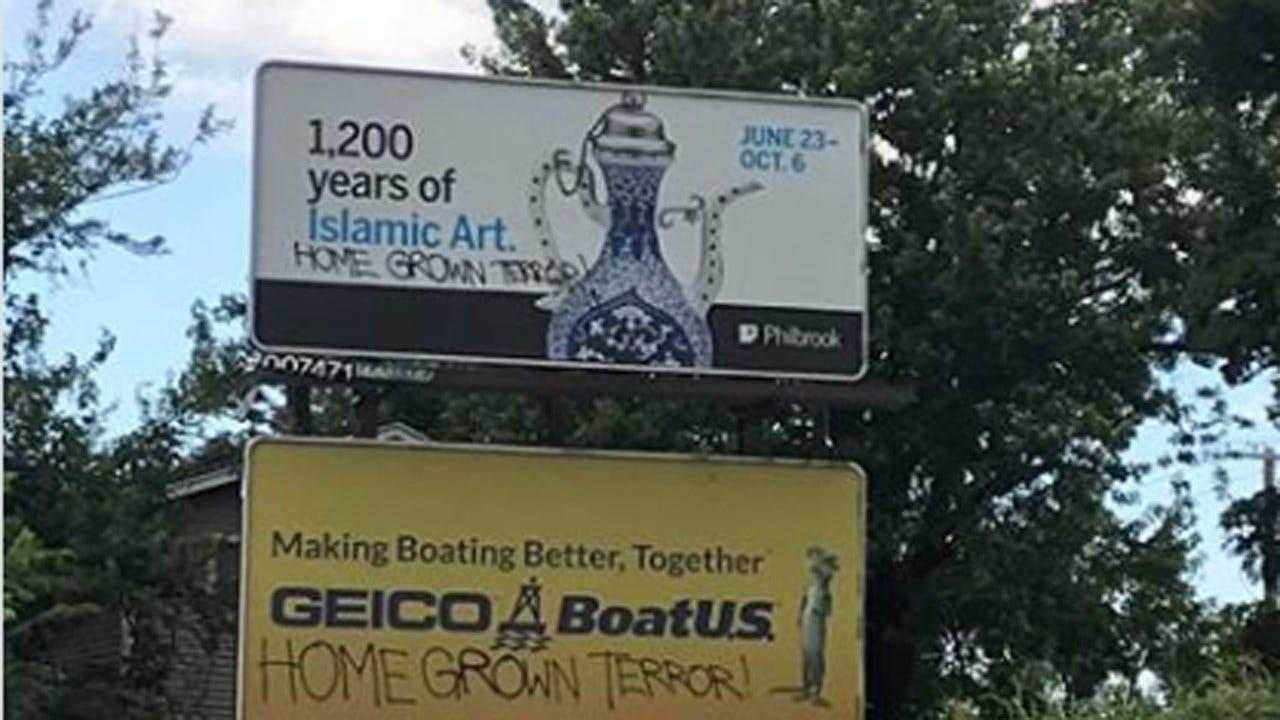 Tulsa Billboards Vandalized With Apparent Anti-Islamic Phrase