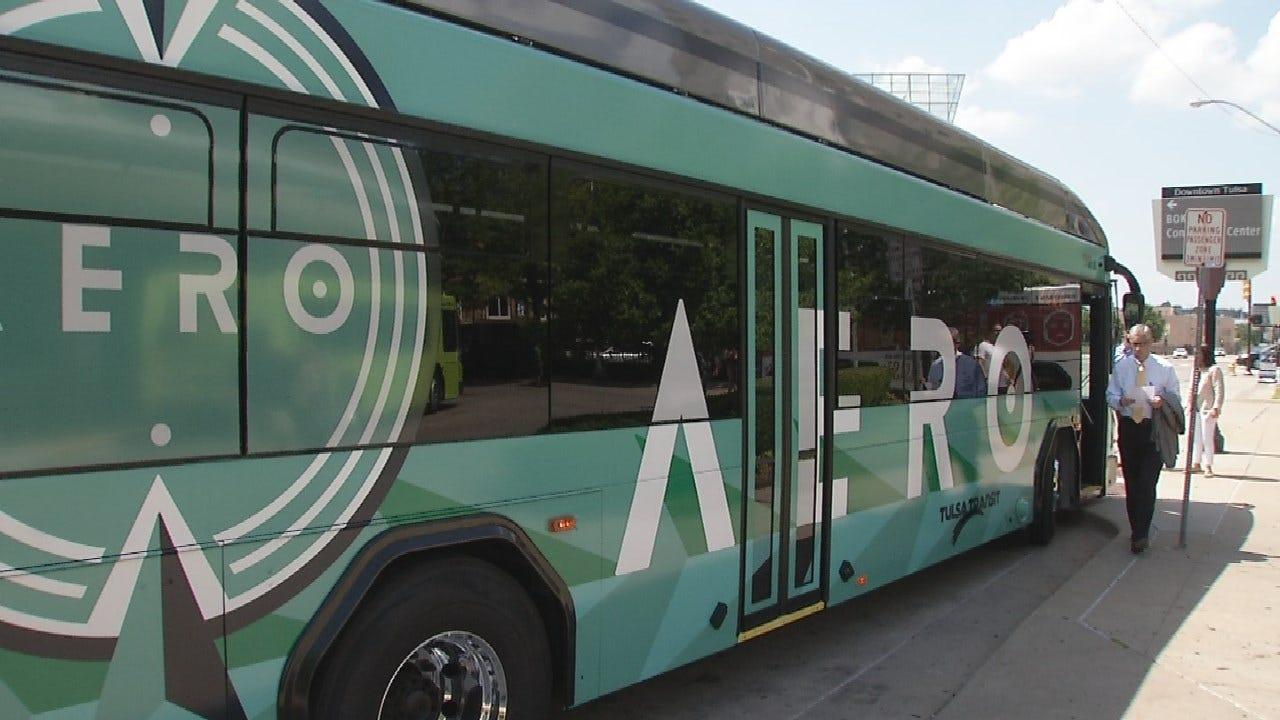 Tulsa's Aero Rapid Transit Bus Service Starts Sunday