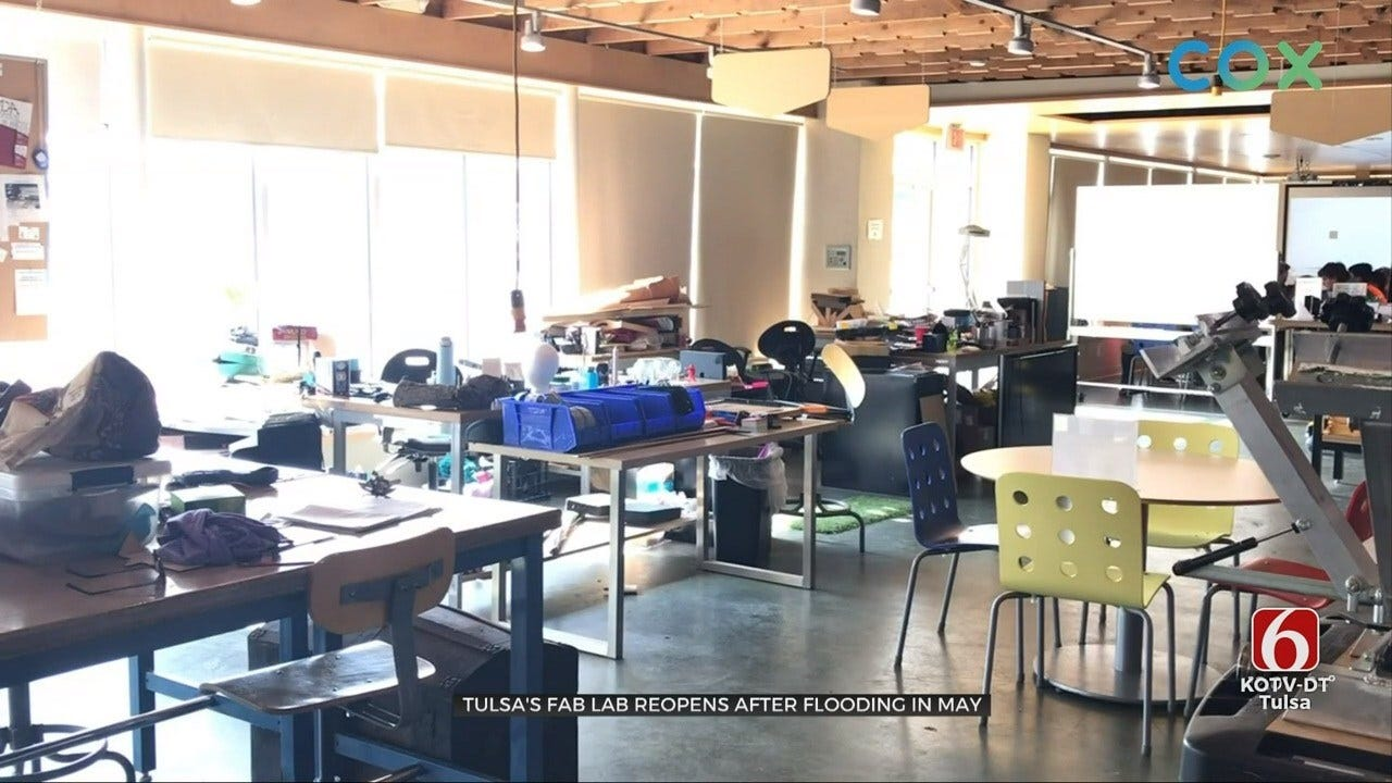 Fab Lab In Tulsa Reopens After Flooding