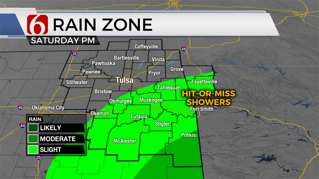 Hurricane Barry Bringing Slight Rain Chances To Eastern Oklahoma