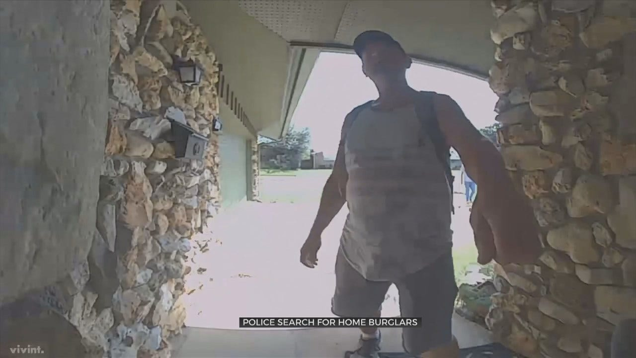 Tulsa Police Search For 2 Persons Of Interest Possibly Related To Burglary