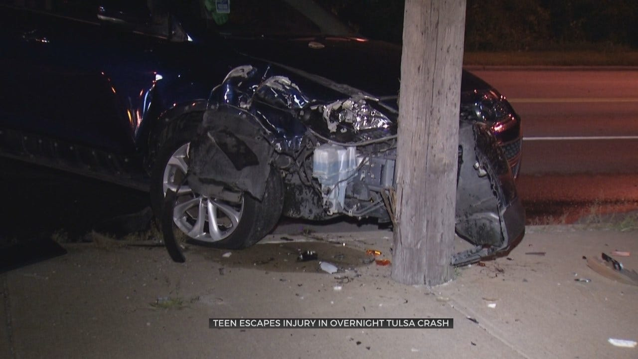 Tulsa Teen Okay After Car Crash