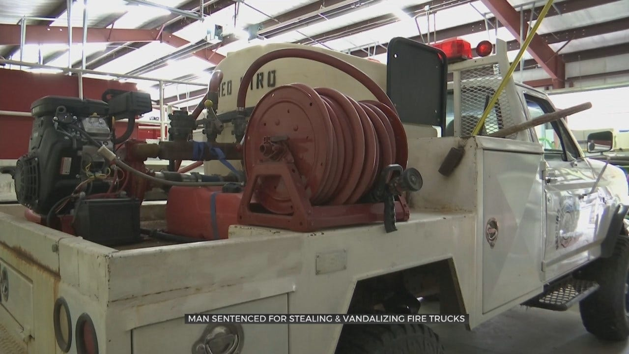 Wagoner Co. Man Given Probation After Vandalizing Fire Trucks